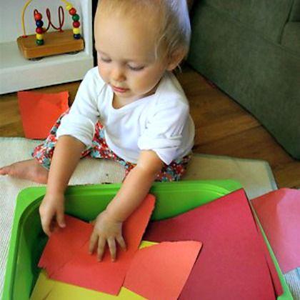 tearing paper montessori activity