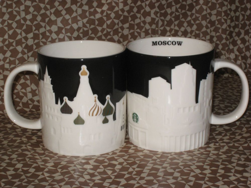 Starbucks Moscow Relief Series MUG 16oz Brand New RUSSIA #