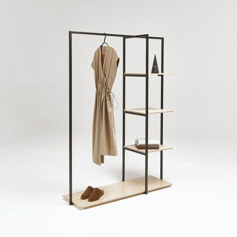 Portable Garment Rack With Shelves Sr 07 Craft Fair Etsy Garment Racks Shelves Clothes Rail With Shelves