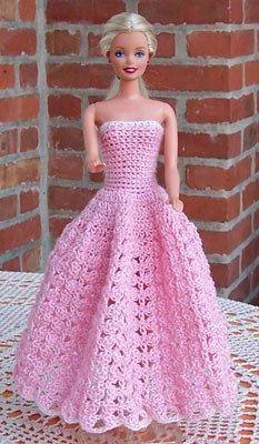 Beroemd Gratis Haakpatronen Barbie Kleding Kt98 Viewletterco
