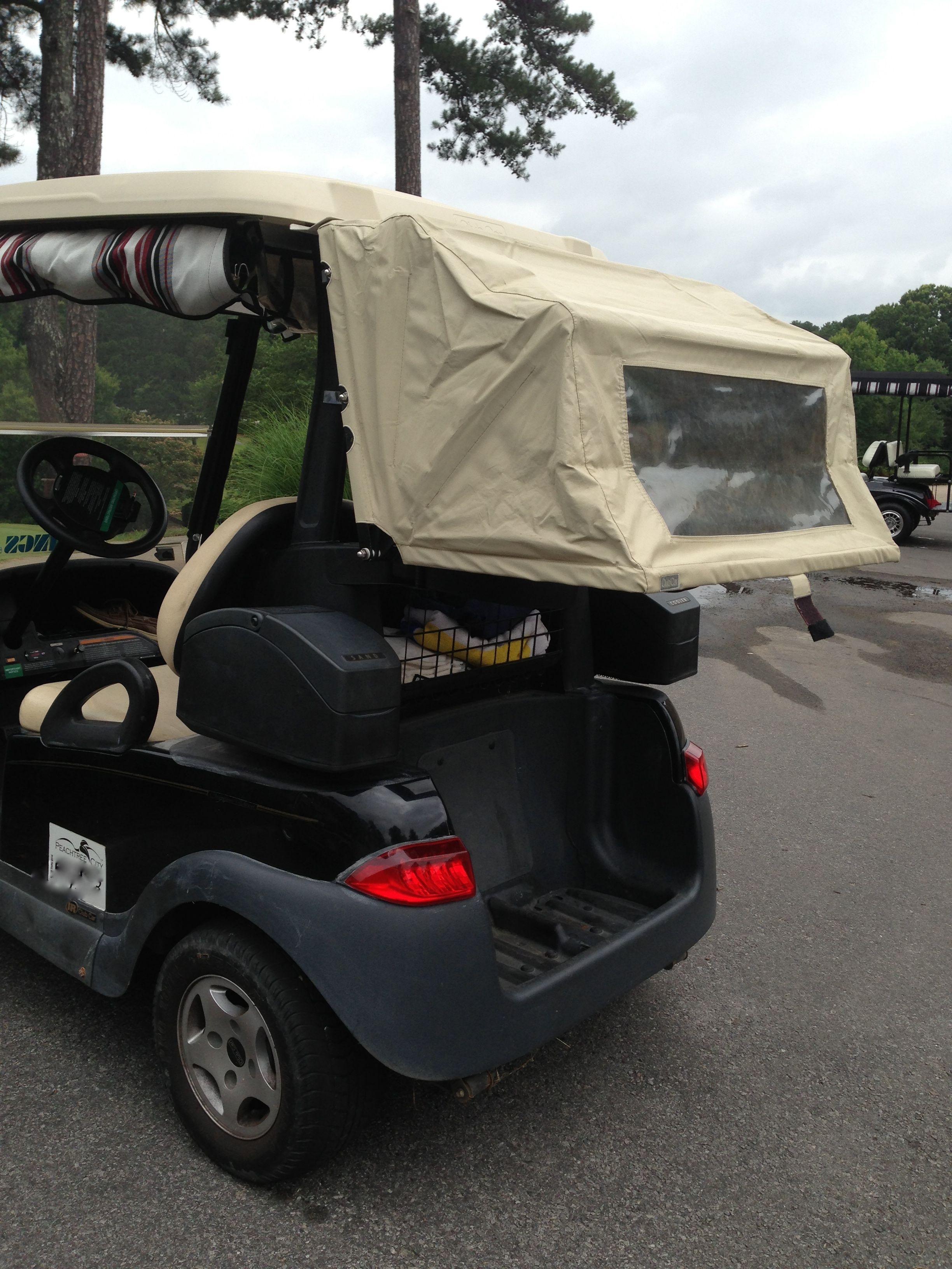 Golf Bag Rack Cart Holder For 2 Or 4 Seat Trailer Coupler Parts Diagram Http Wwwebaycom Itm Freedompivot A Canopy Your Bags And Clubs Protects Equipment In The Rain Without Interfering With Easy Access Clubcargolfcart