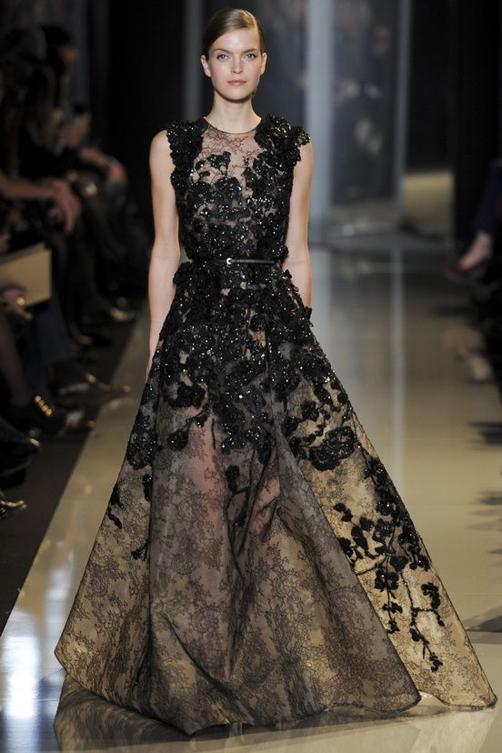 The Black floral Gown @ElieSaabWorld Elie Saab Spring Summer Couture 2013 #HauteCouture #HC
