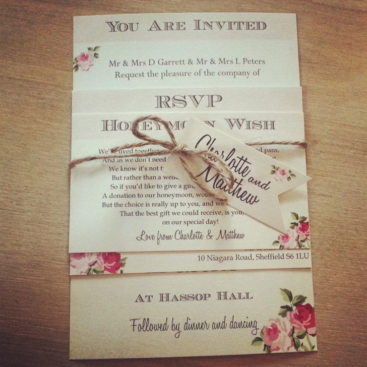 Wedding. Charming Shabby Chic Wedding Invitation Template Rose ...