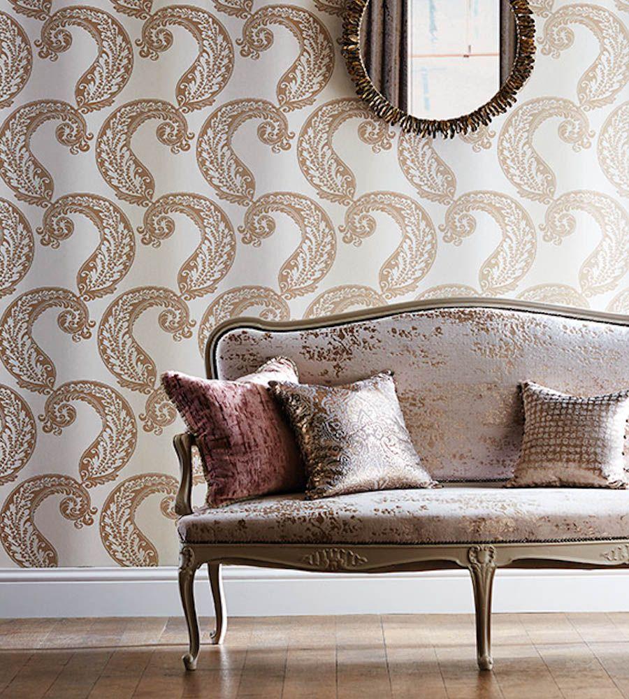 Harlequin Eglomise Fabric Sandstone