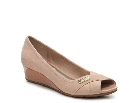 9bb429a26f10 Women s AK Anne Klein Sport Cloudless Wedge Pump - Nude