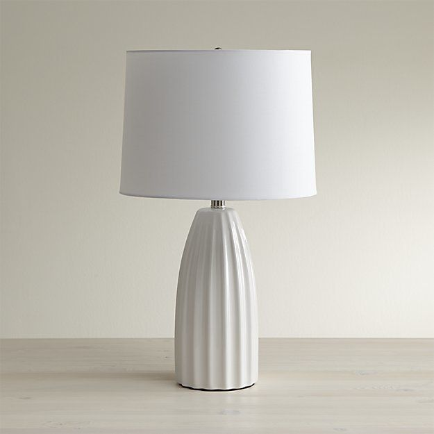 Crate barrel ella white table lamp