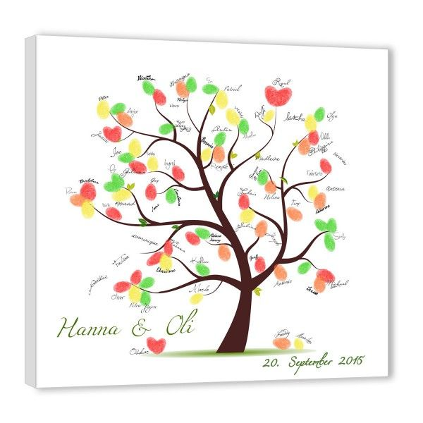 fingerabdruck baum hochzeit weddingtree leinwand ideen tree wedding wedding diy wedding