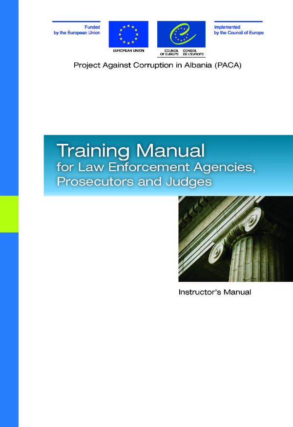Training Manual for Law Enforcement Agencies, Prosecutors and - training manual