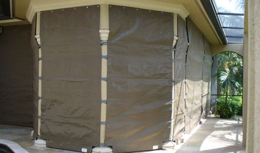 Fabric Storm Panels, Or Wind Abatement Screens, Are An Innovative Way To  Protect Your Windows, Doors, And Other Openings From Hurricane Force Wind  And Rain.