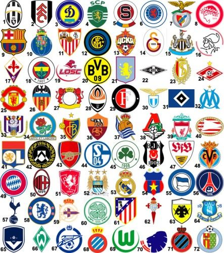 Top 10 Best Soccer Clubs In The World As Of 2013 Jpg 443 499 Football Team Logos World Football Football Logo