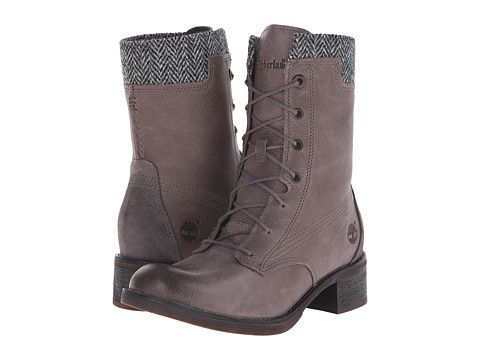 Timberland whittemore fabric and leather lace up dark grey woodlands grey  harris tweed