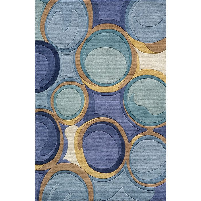 Momeni Newwave Blue Area Rug Reviews Wayfair