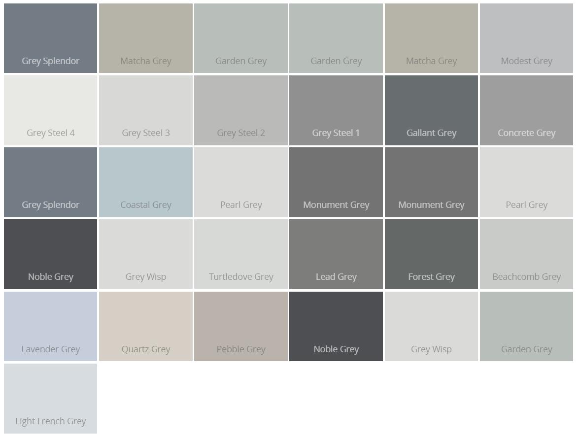 Dulux Grey Paint Colours