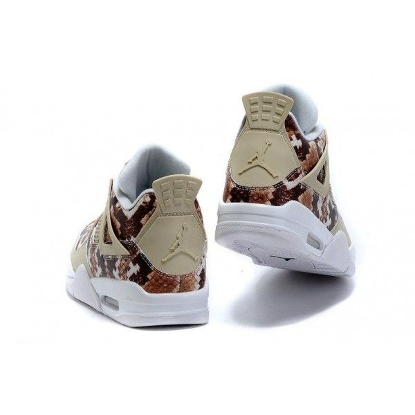competitive price a166a c9950 ... air jordan 4 snakeskin white grey brown retro basketball shoes mens  save 55% off ...