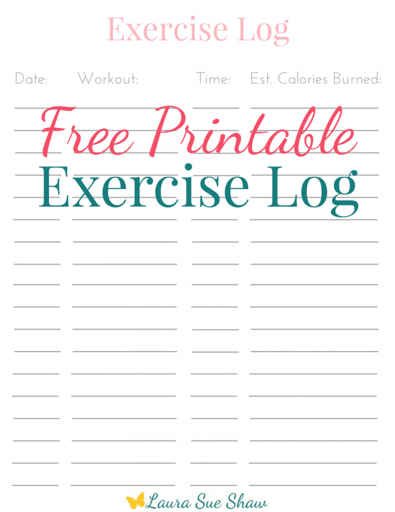 Free Printable Exercise Log   Stay motivated, Hard work and Free ...