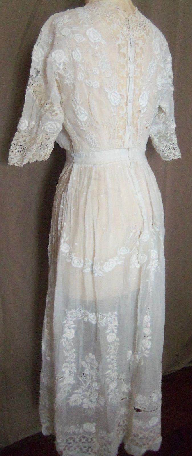 Heirloom victorian edwardian tea dress victorian ebay and