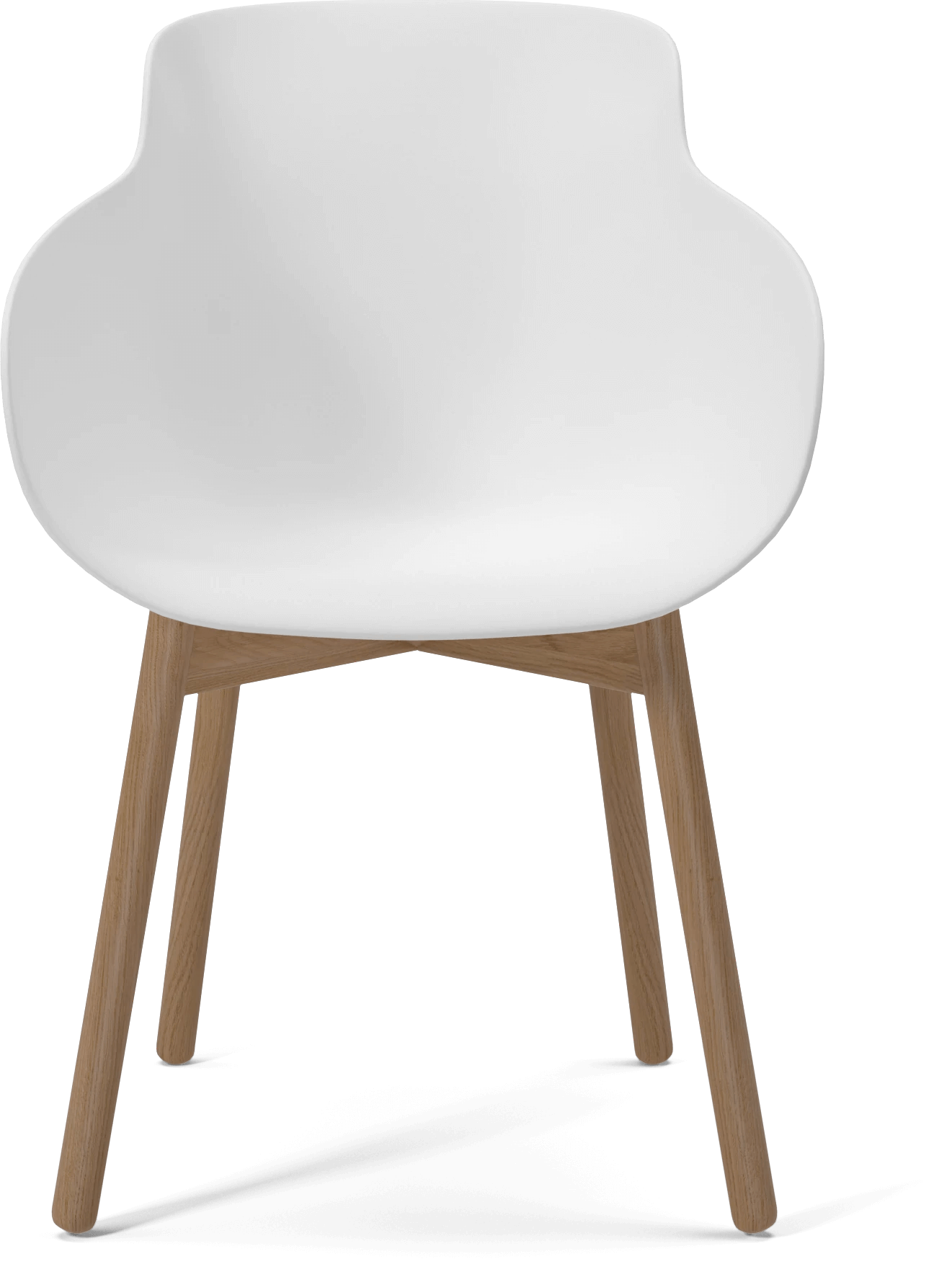 The Hug dining chair, white / wood by Bolia boasts a frame finish in ...