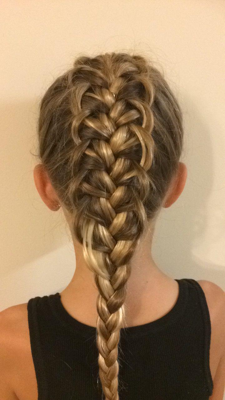 Loop French braid Cool hairstyles, Hair styles, Hair and