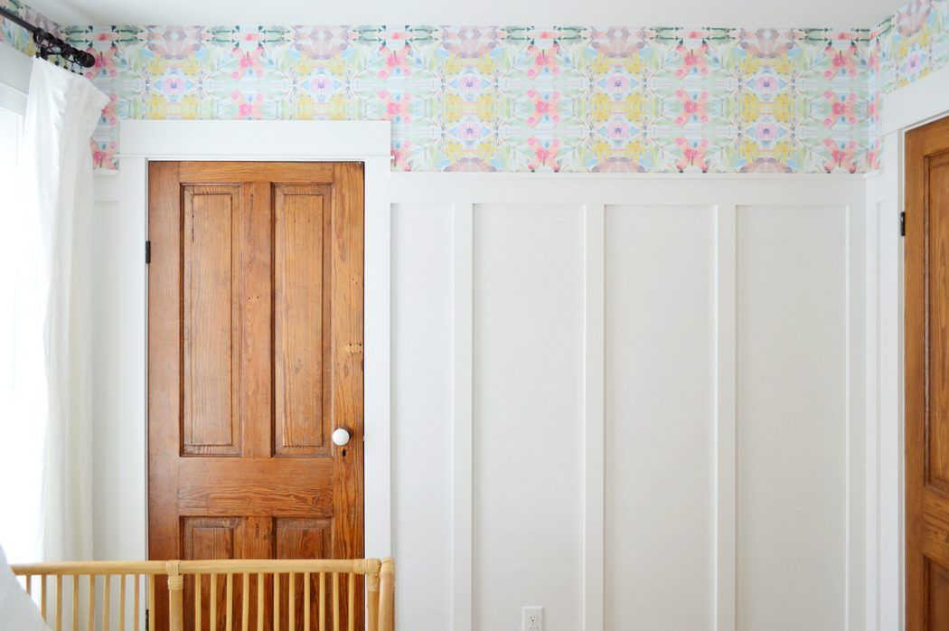 How To Hang Peel Stick Wallpaper On Video Young House Love Young House Love Peel And Stick Wallpaper Home Wallpaper