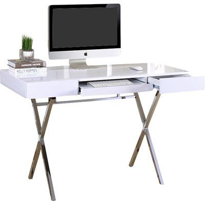 Round Out Your Home Office Or Den With This Charming 2 Drawer Desk