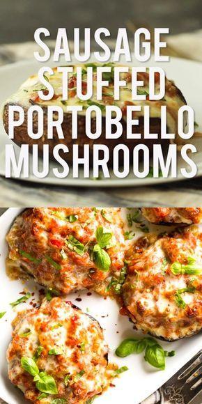 Sausage Stuffed Portobello Mushrooms