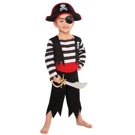 Rascal Pirate Buccaneer Costume Child Boys 4 - 6 Small - Walmart.com #diypiratecostumeforkids