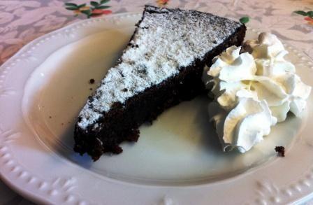 Torta caprese on http://www.blogandthecity.it/torta-caprese-mon-amour/
