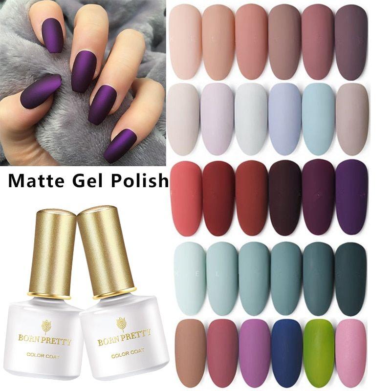 Born Pretty 60 Colors Matte Uv Gel Nail Polish Uv Gel Nail Polish Uv Gel Nails Gel Nail Polish