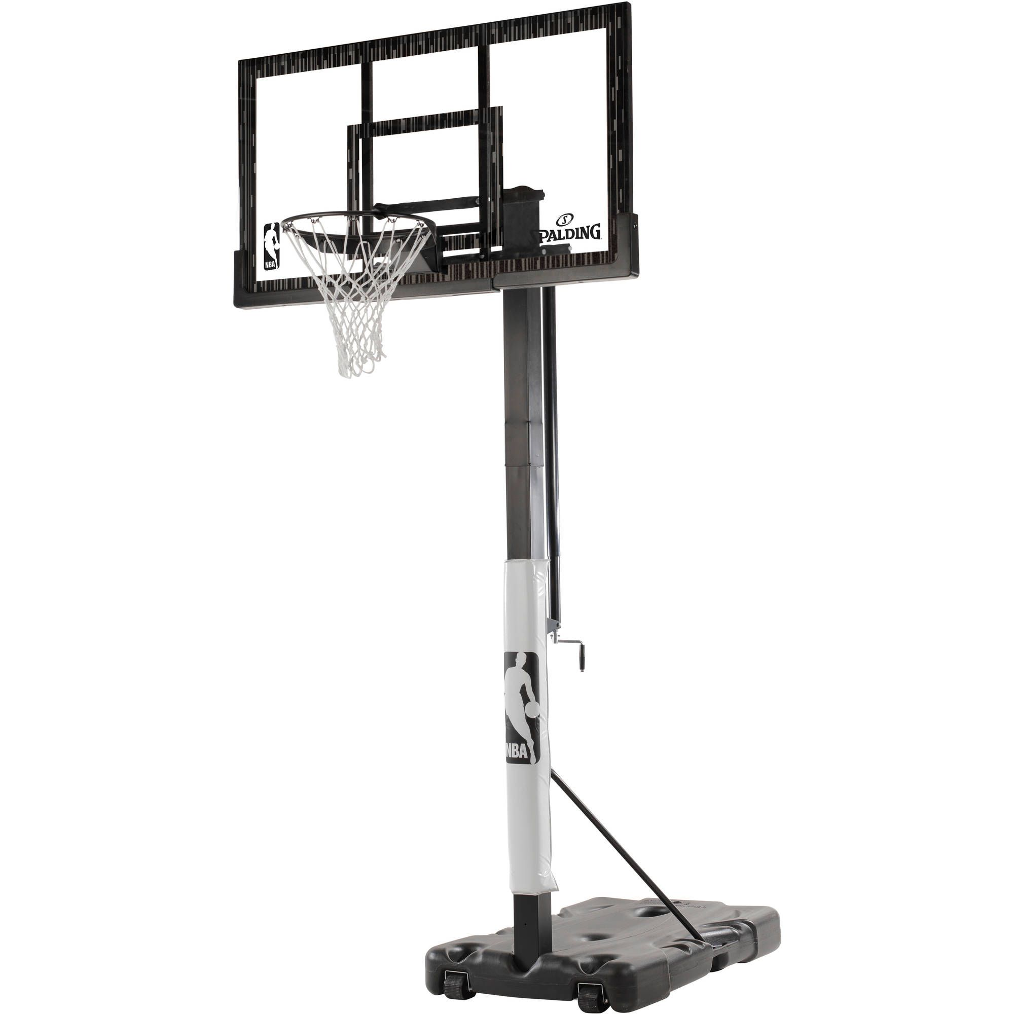 Spalding Nba 60 Acrylic Screw Jack Portable Hoop System Walmart Com Portable Basketball Hoop Adjustable Basketball Hoop Basketball Backboard