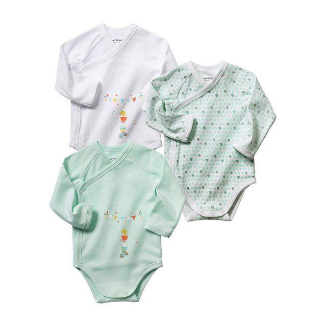 Lot 3 Newborn Long Sleeve Onesies