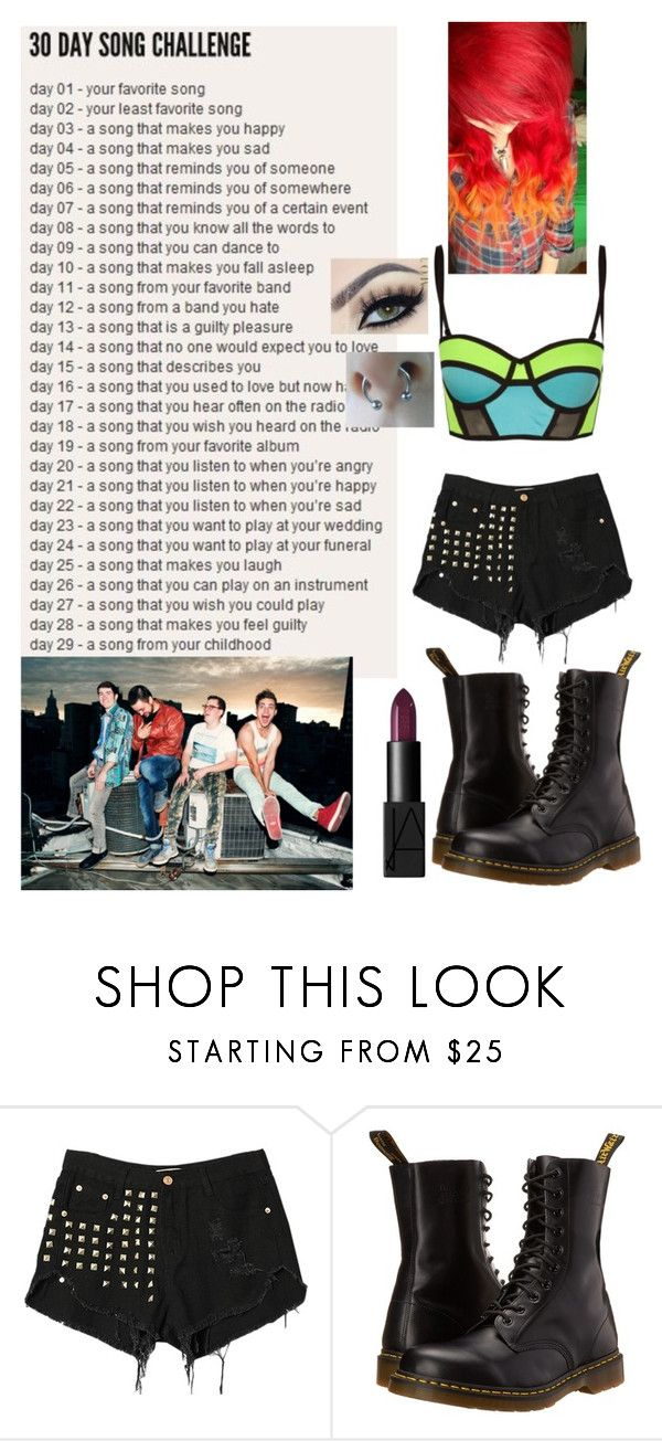 """""""day 17= Shut Up and Dance With Me by Walk The Moon"""" by fivesecondsof4australianidiots ❤ liked on Polyvore featuring Cotton Candy and Dr. Martens"""