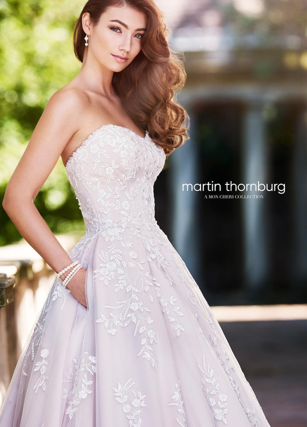 Outside wedding dresses  Wedding Dress Inspiration  Martin Thornburg from Mon Cheri Bridals