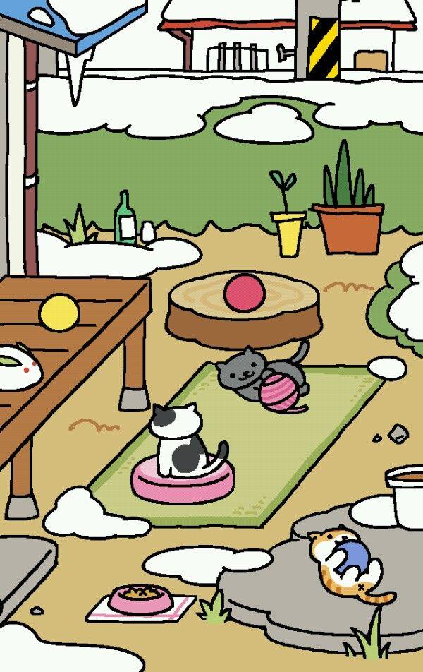 Neko Atsume. Cute cat game. I love it.