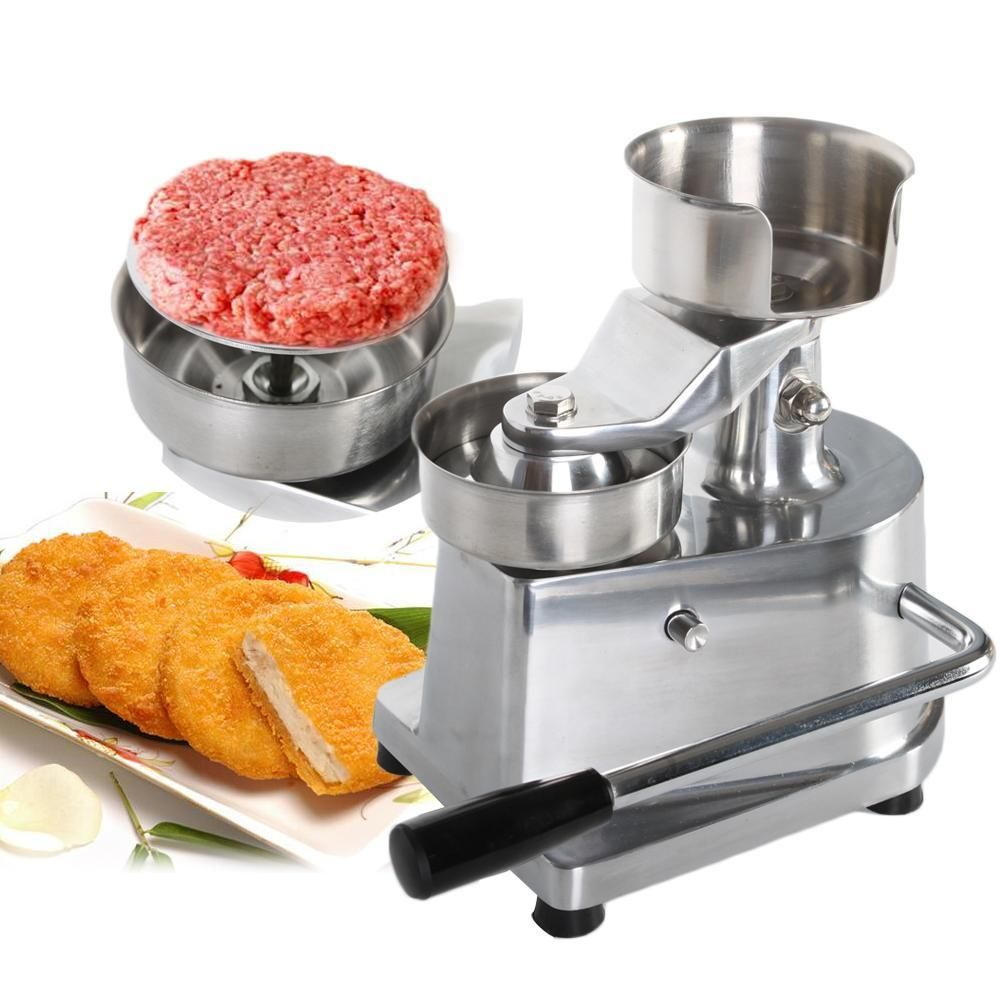 Manual Hamburger Burger Press Patty Meat Patties Meatball Shaping Machine 100mm