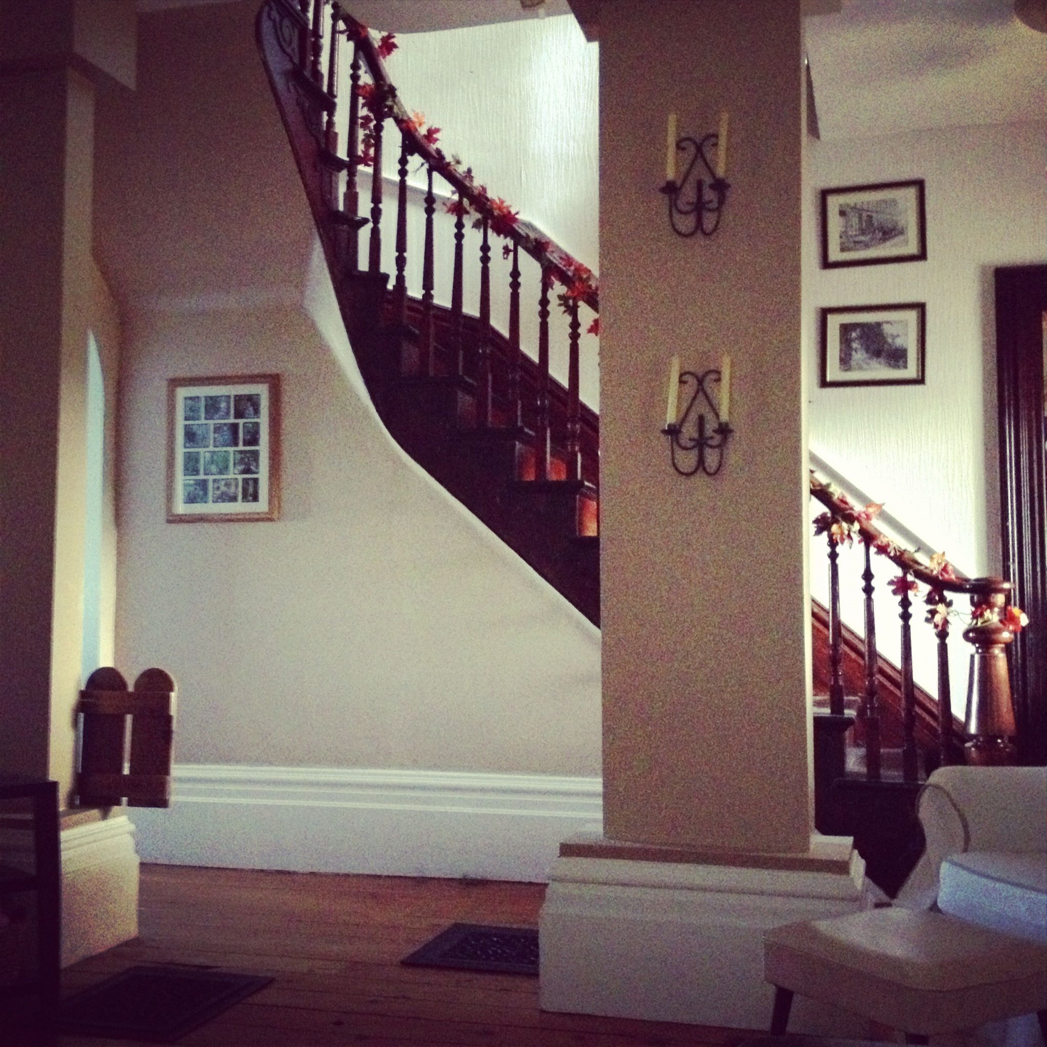Stairs in the hall