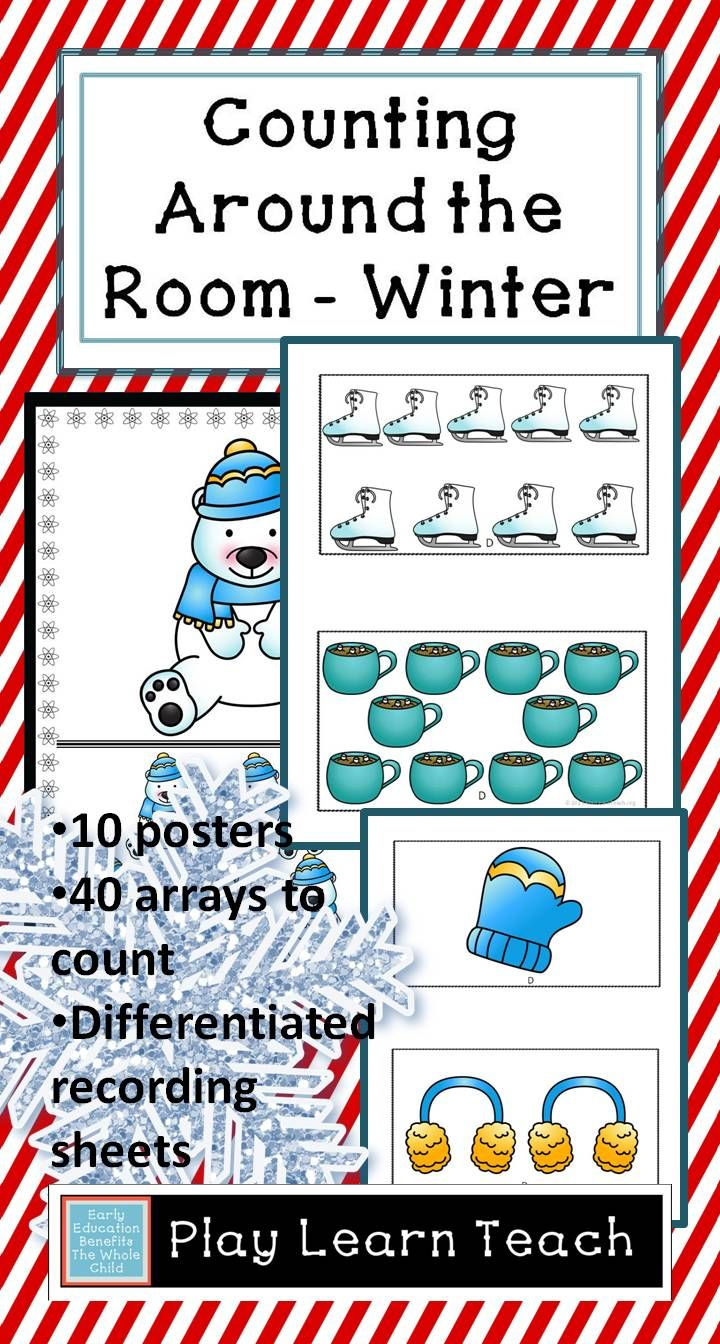 Winter Count the Room | Pinterest | Recording sheets, Math and Winter