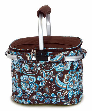 Look what I found on #zulily! Blue Floral Shelby Collapsible Cooler Tote #zulilyfinds