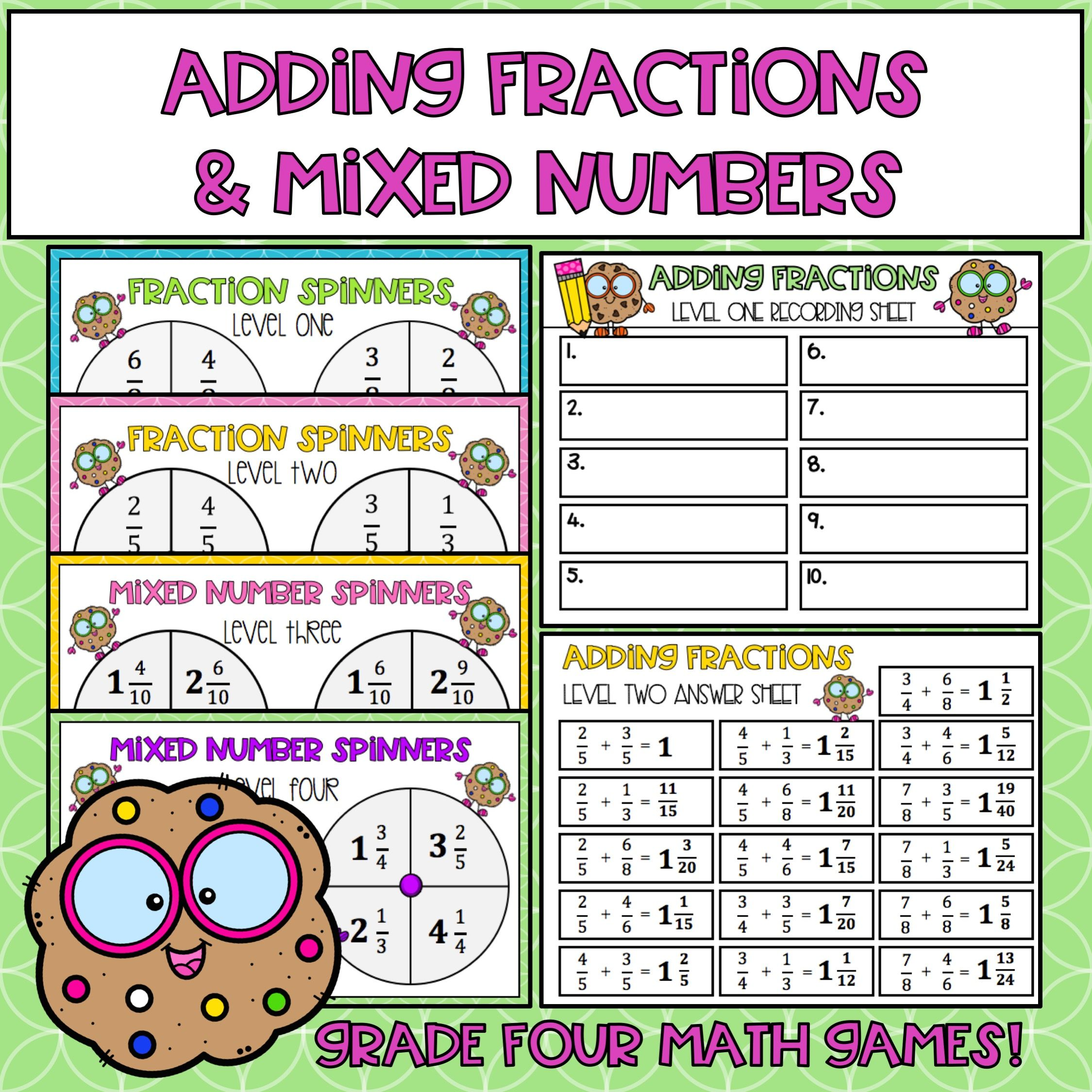 Adding Fractions And Mixed Numbers With Images