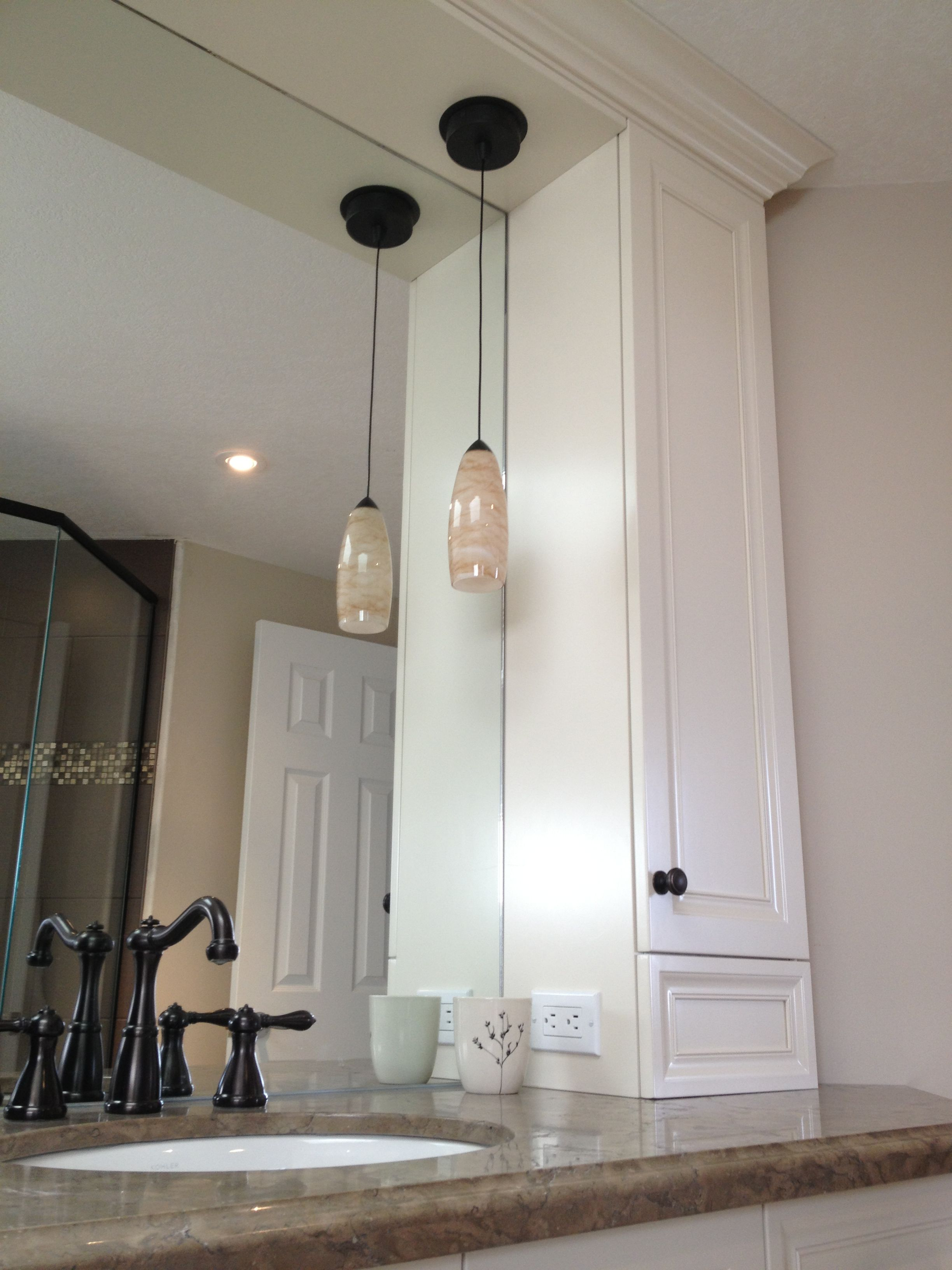 Bathroom pendant light - hand-blown glass halogen | home love ...