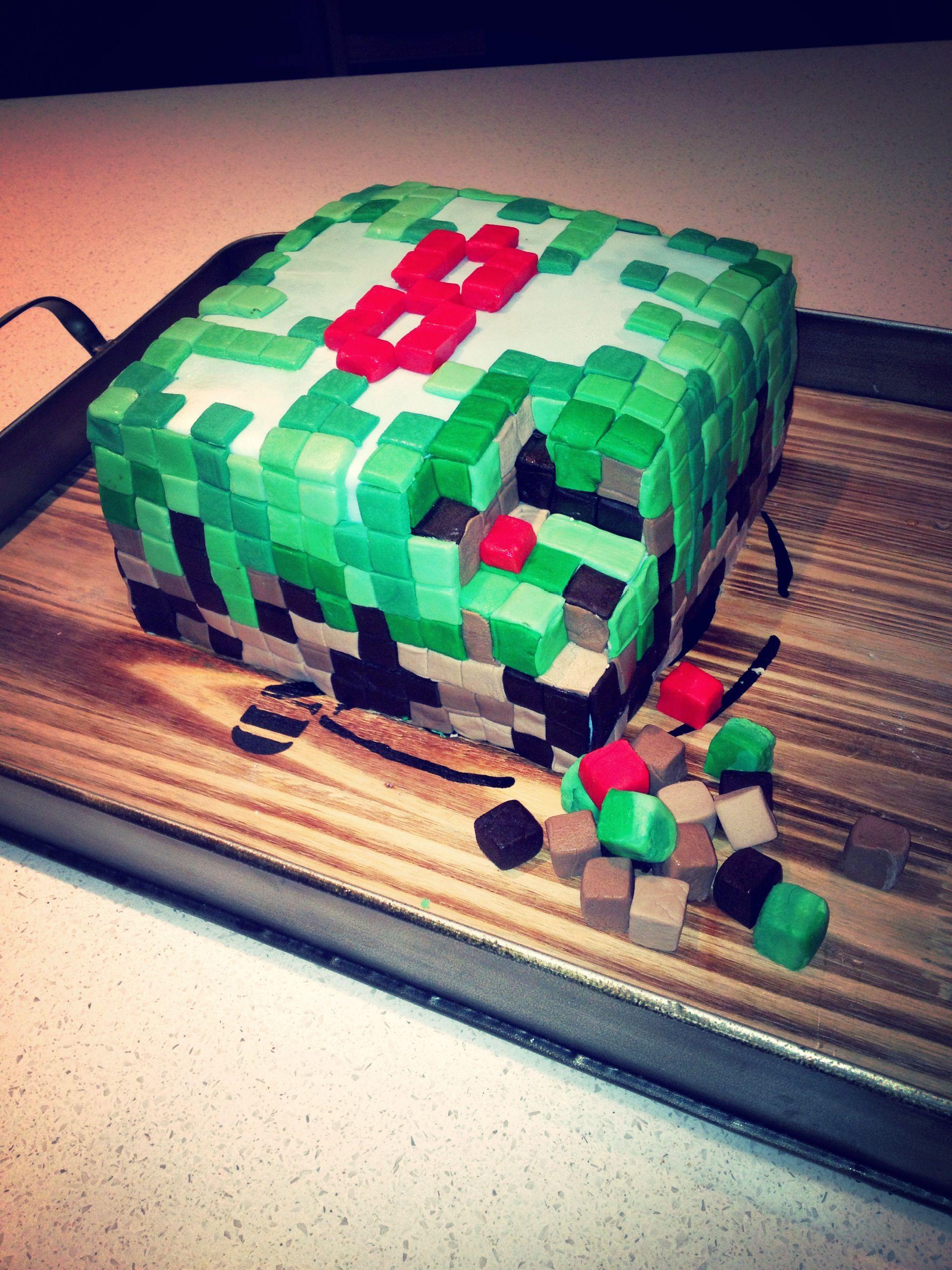 Minecraft Cake Boys 8th Birthday Cake Boys 8th Birthday 8th