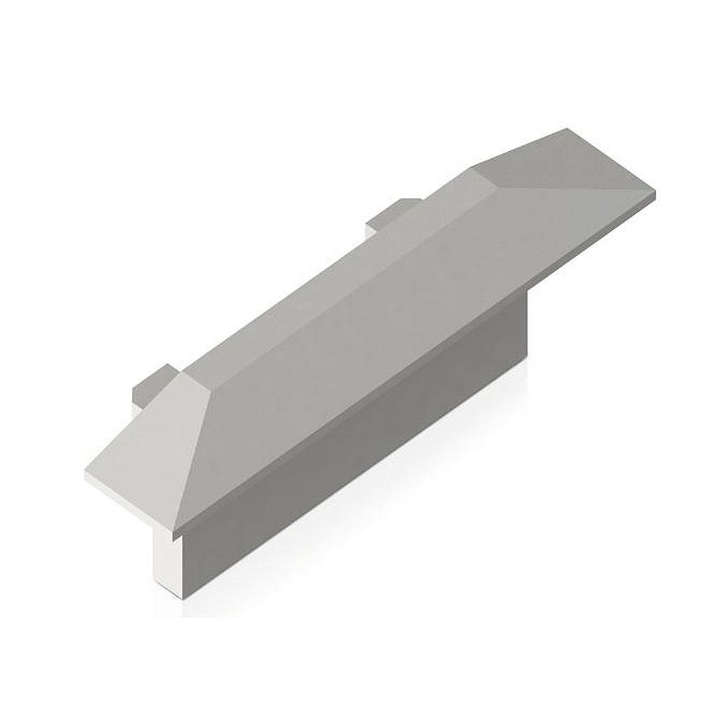 Endkappen-Set zu LED Einbauprofil BRUM-53657…, 0.75 x 2.45 x 0.95cm, Kunststoff grau