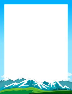 Mountain Border Page Borders Borders For Paper Clip Art Borders