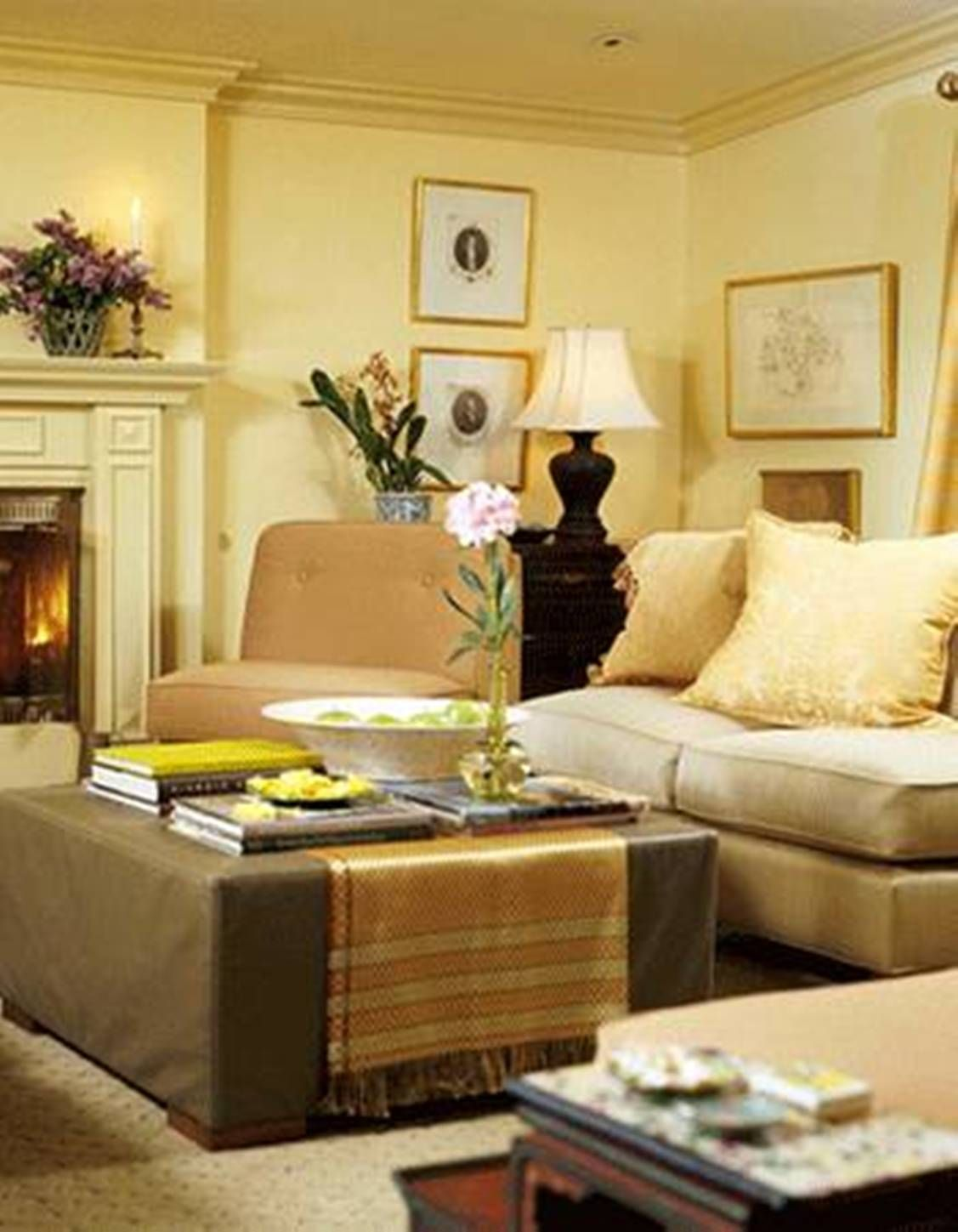 yellow-feng-shui-colors-for-living-room-with-fireplace.jpg (1127 ...