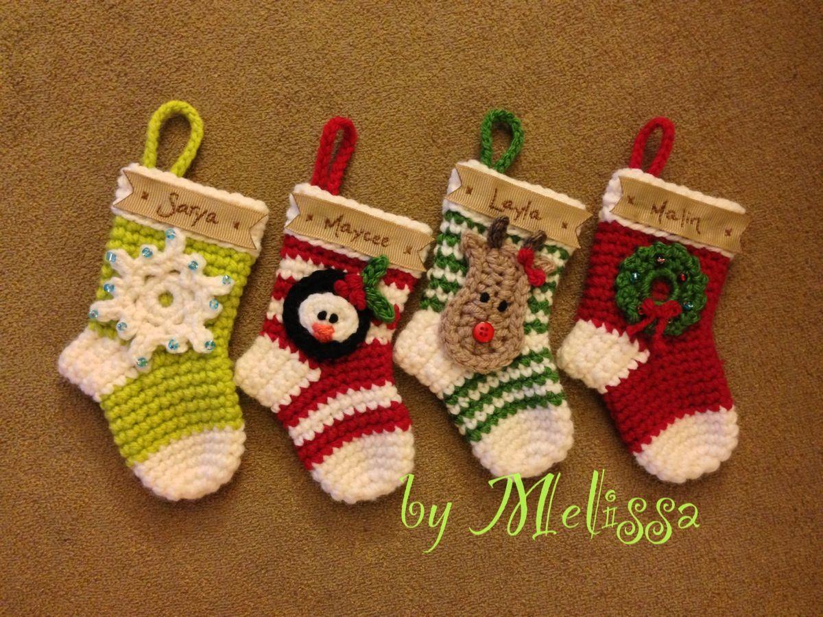 Crochet Christmas Stocking Ornament | Crochet Stuffs | Pinterest ...