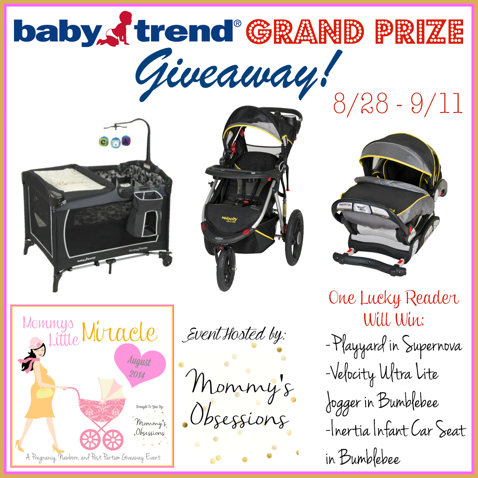 baby trend Car Seat, Jogger & Playyard Giveaway Ends 9