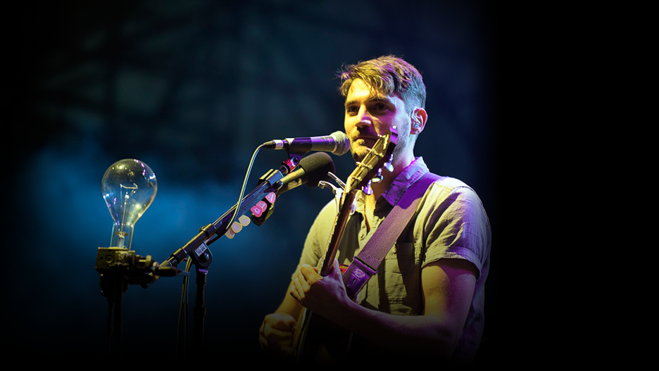 A photo of Hey Rosetta! playing the CBC Music Festival in May 2016.