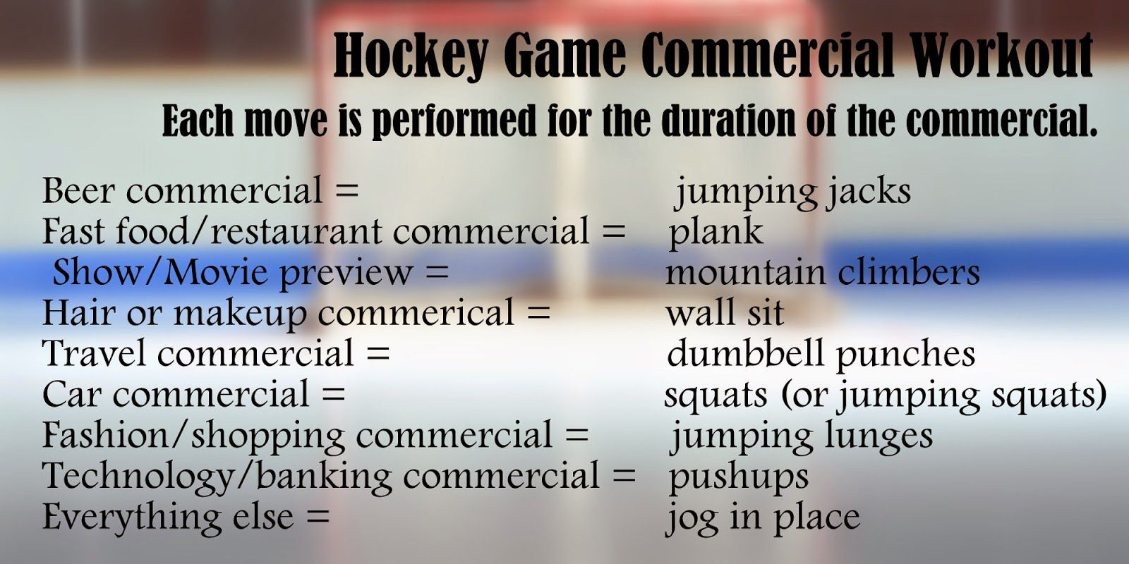 Canadian Girl Runs Hockey Game Workouts Tv Commercial Workout Workout Get Fit