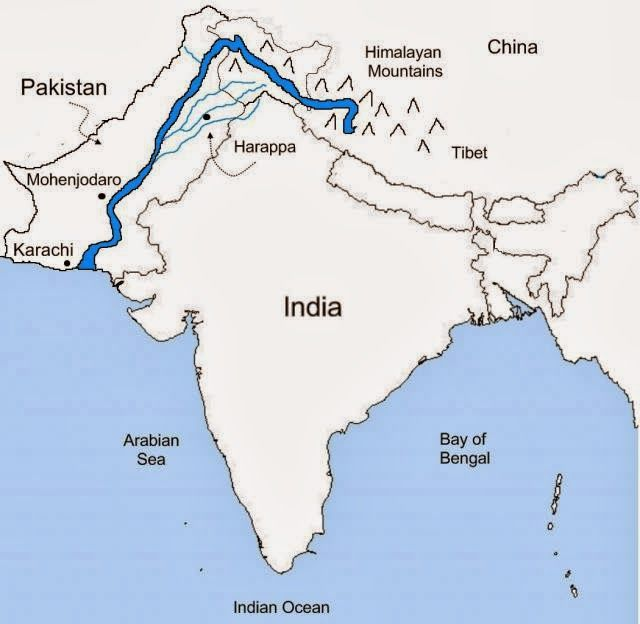 Himalaya India Map.Ganges River And Himalaya Mountains Ckla Early Asian Civilizations