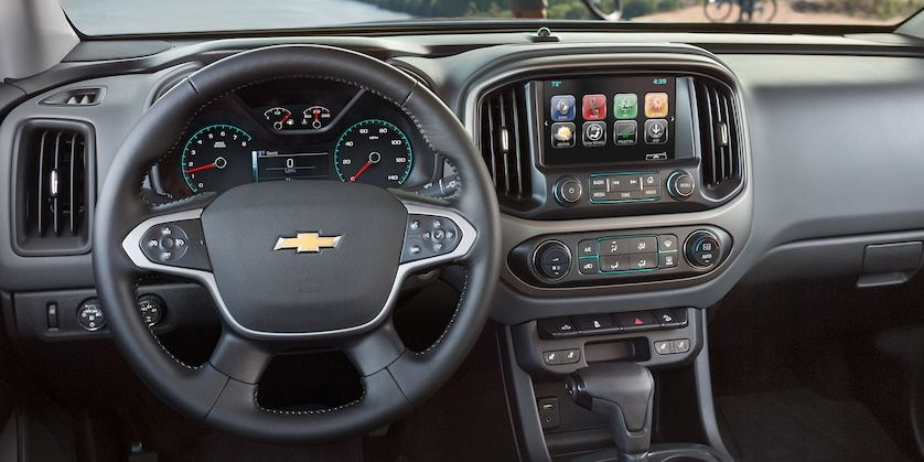 2017 Colorado Mid Size Truck Interior Photo: 8-inch MyLink touch-screen