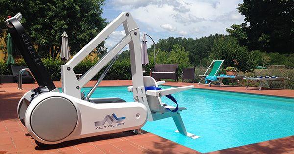 Portable and stylish Italian designed portable pool hoist ...